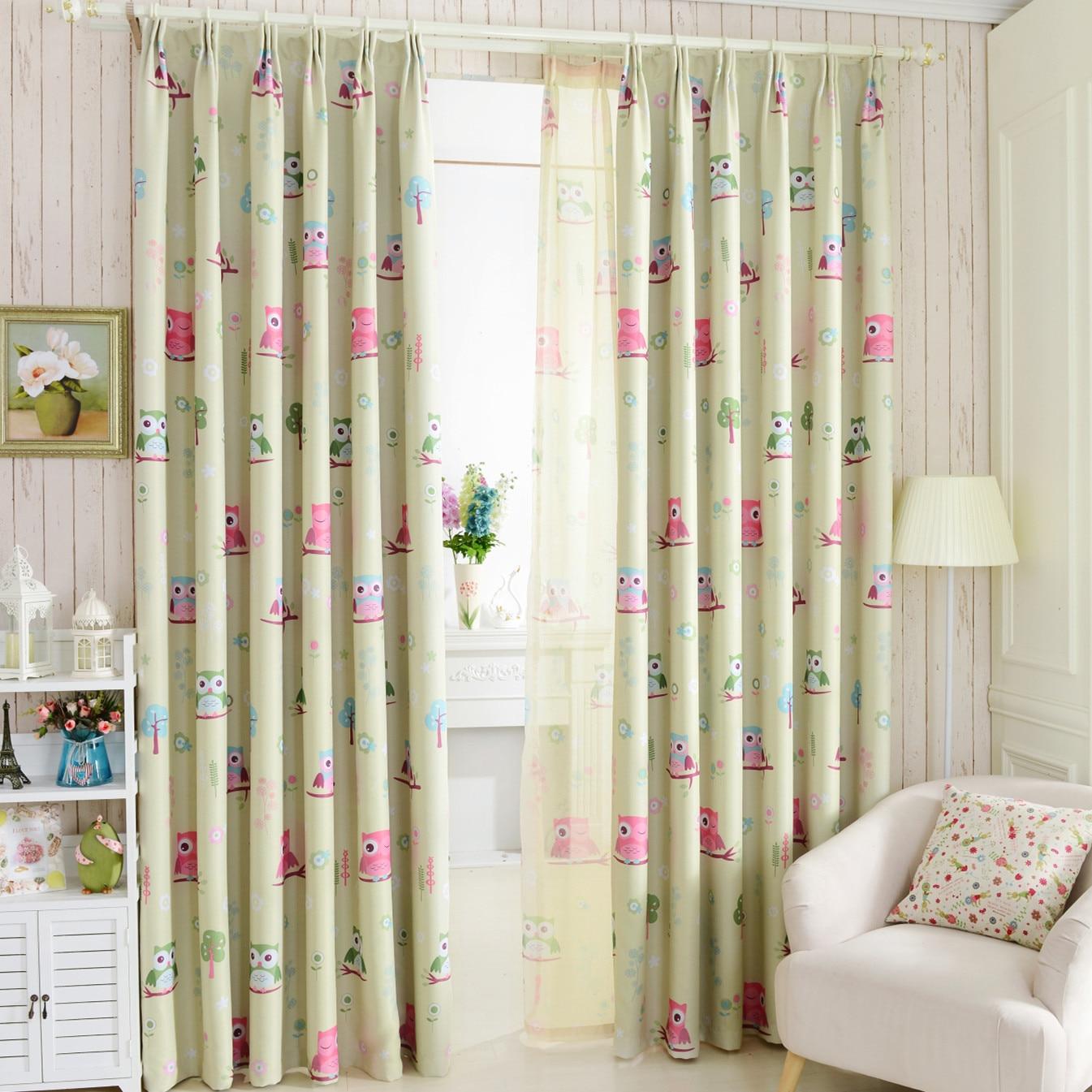 achetez en gros hibou rideau en ligne des grossistes hibou rideau chinois. Black Bedroom Furniture Sets. Home Design Ideas