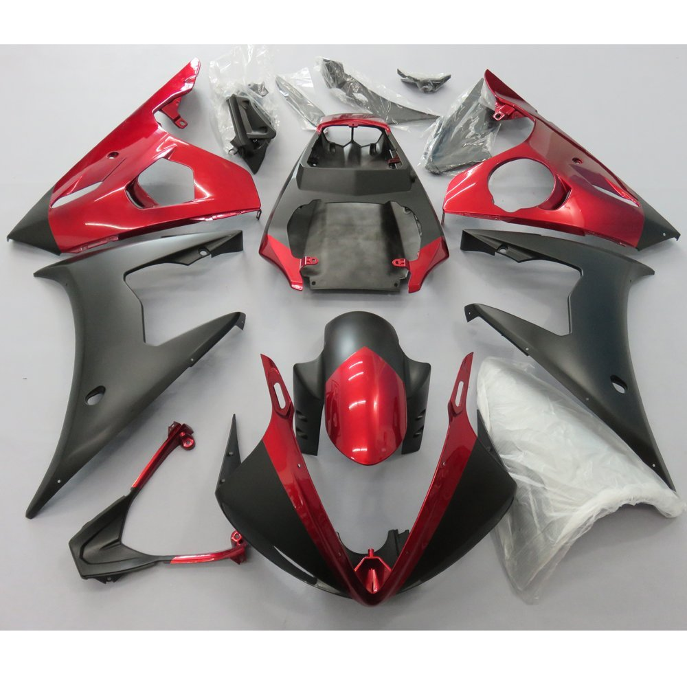 Motorcycle Injection mold Fairing For Yamaha R6 YZF 2005 YZFR6 YZF-R6 05 Full Fairings Kit Bodywork Red Matte Black UV Painted women ladies flats vintage pu leather loafers pointed toe silver metal design
