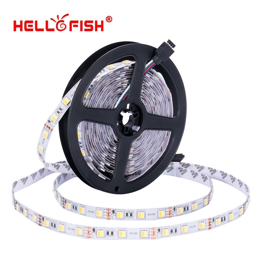Led Strip Light 12v Double Color Light DC 12V White And Warm White Color Temperature Adjustment  5m 300 LED 5050 5025