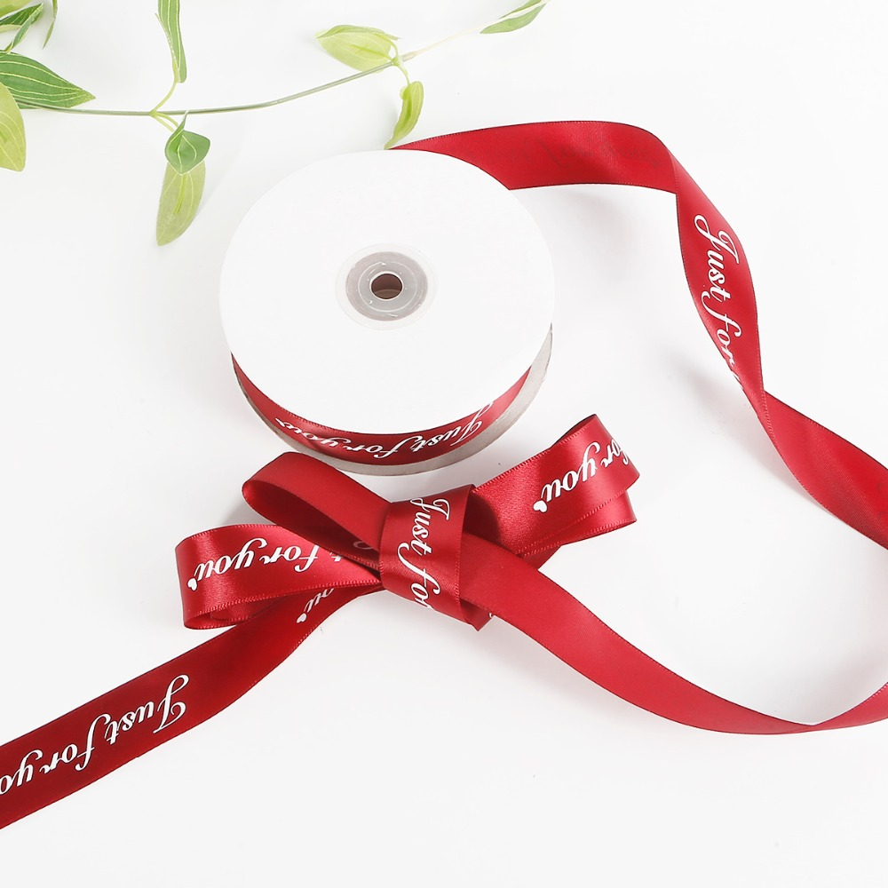 50 pcs Mini Flower Polka Dot Satin Ribbon Craft DIY Sewing Card Making 3x3cm