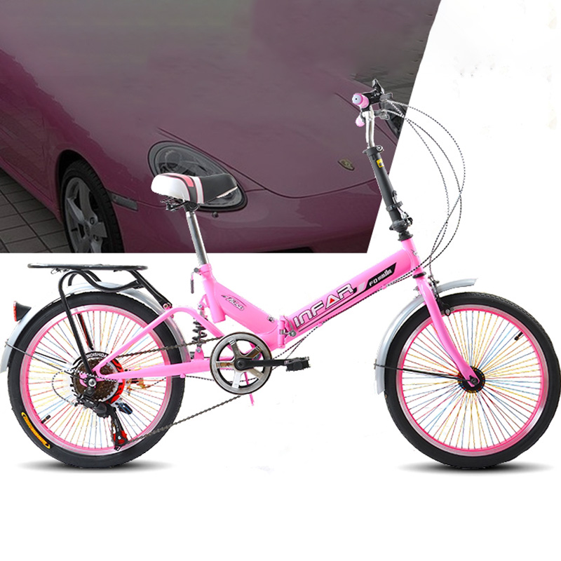 20 inch Variable Speed Shock Absorber Bicycle Folding Ultra portable Adult Bike Front Wheel V Brake Rear Axle Brake