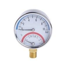 10 бар температура манометр метр G1/4 резьба 2 в 1 термометр монитор W-store Jan15