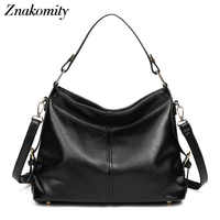 Znakomity Black female bag women's leather messenger shoulder bags for women Tote purses and handbags ladies hobo hand bags