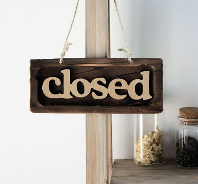 Rustic Wall Hanging Wood Wooden Board Signs Welcome Closed Open Reclaimed Eco Friendly Living