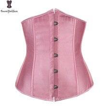 Satin Corset Top Plus Size Sexy Women Underbust Gothic Bone Shirt Bustier 6XL Ann Chery Waist Trainer Pink