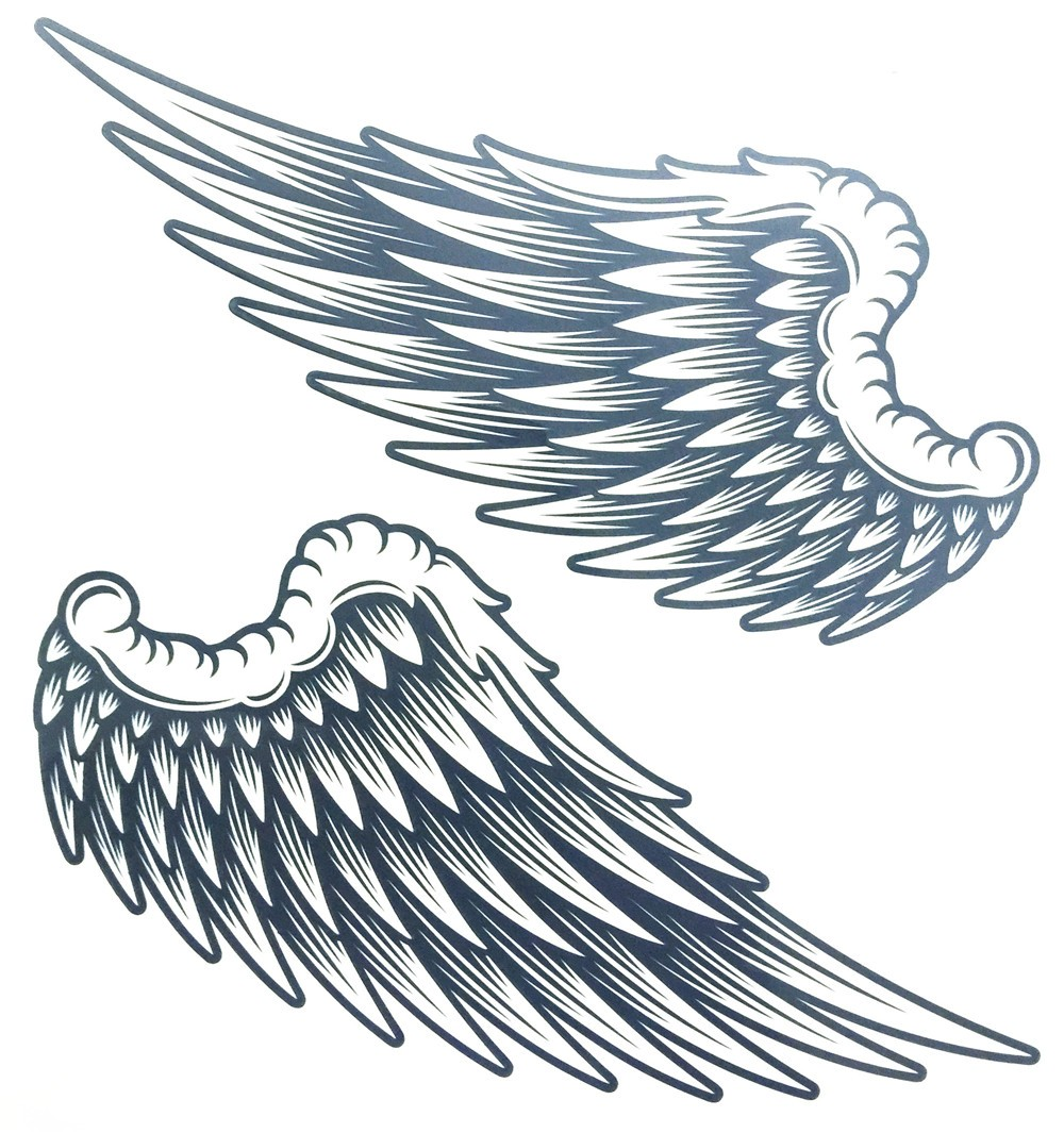 Angel Wings Raver Arm Leg Body Art Waterproof Temporary Tattoo Sticker women's make up Temporary tattoos 3