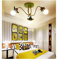 Бесплатная доставка Современная детская спальня потолочный светильник светодиодный животное из мультфильма голова обезьяна зебра и Жираф