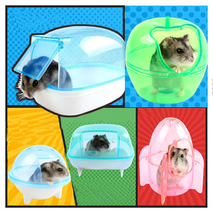 Hot 10 Style Hamste Cage Bathroom Sauna Bathtub Small Pet Hamster Accessories Can Effectively Prevent The Bath Sawdust Fly Out(China)