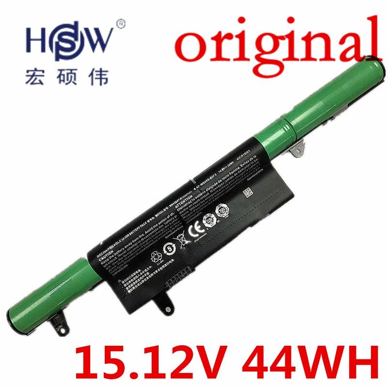 HSW Genuine original 15.12V 44WH laptop battery for Clevo W945BAT-4 6-87-W945S-42F bateria akku