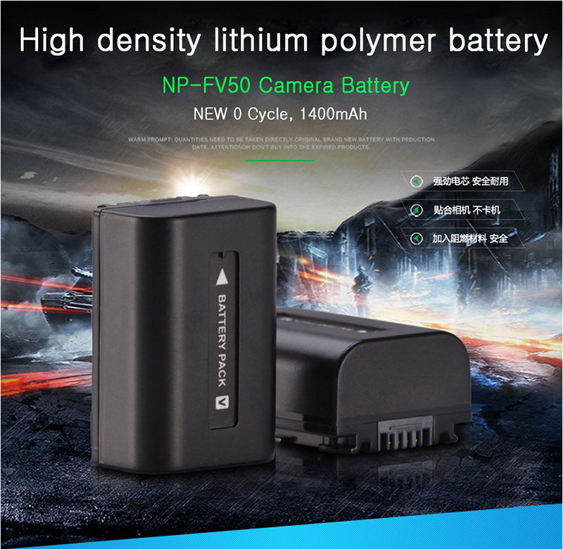 For-Sony-NP-FV50-LCD-USB-Charger-+-1400mAh-NP-FV50_01
