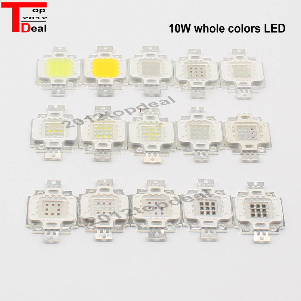 100pcs High Power 10W COB led 30 30mil Warm White 4000K 3000K 6500K 10000K 20000K 30000K