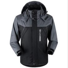 2017 New Winter Men Plus Size Waterproof Cotton Jackets Coats Male Thicker Warm Long Outwear Parkas Windproof Casual Hooded Coat