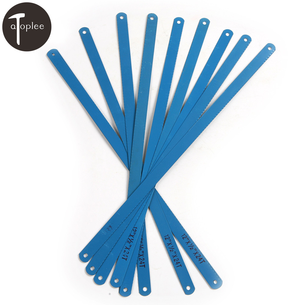 10PCS High Carbon Steel Sky Blue/Dark Blue Color Hacksaw Blades 300mm Length Metalworking Blade For Cutting Metal Tools