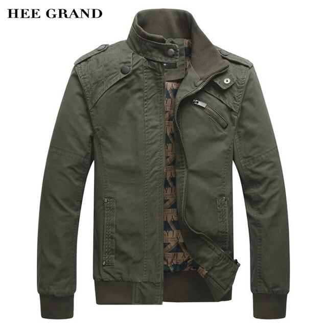 HEE GRAND 2017 Новое Прибытие мужской Моды Случайные Весна Осень Куртки Хлопка Воротник Пальто 4 Цвета MWJ166