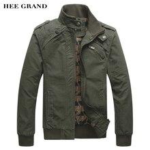 Hee Grand/2018 г. новое поступление Мужская Мода Повседневное Демисезонный куртка хлопок стенд Куртка с воротником 4 цвета MWJ166
