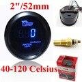 """Digital Medidor de Temperatura del Agua 40 ~ 120 2 """"52mm Medidor de Temperatura Con Sensor de Temperatura Del Agua Del Coche Azul LED"""
