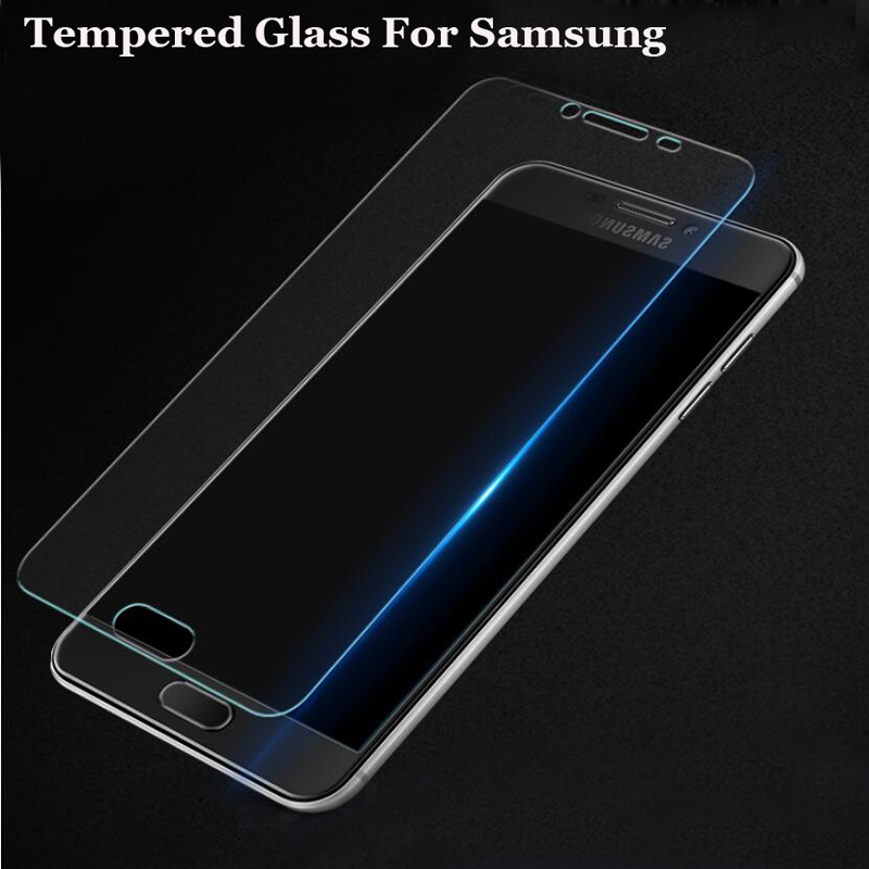 2.5D Premium Tempered Glass For Samsung Galaxy S6 J1 J2 J3 J5 J7 A3 A5 A7 2014 2015 2016 Screen Protector Protective Guard Film image