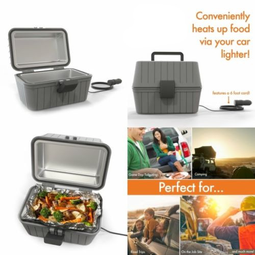 Portable Lunch Box Hot Food 12V Warmer Stove Oven For 4WD Car Caravan Camping