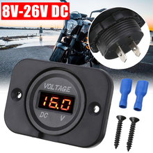1 pc 12V-24V Red LED Digital Voltmeter Panel Car Motorcycle Voltage Meter Gauge LED Display Voltmeter Panel ac 70v to 400v red led digital panel voltage meter voltmeter black