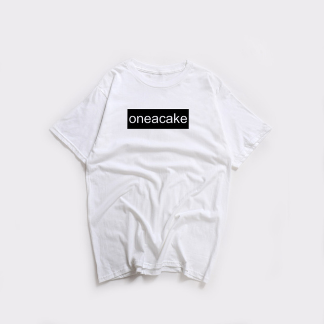 5bfec97c US $5.86 34% OFF|Men T Shirt Summer Cool Tee Shirt One A Cake Letter Print  Short Sleeve Box Logo Funny T Shirt Hip Hop Streetwear T Shirt Coloful-in  ...