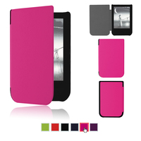 Free Shipping 50pcs Lot Slim Magnet Case For Pocketbook Touch HD 631 2016 Cover Case Protective