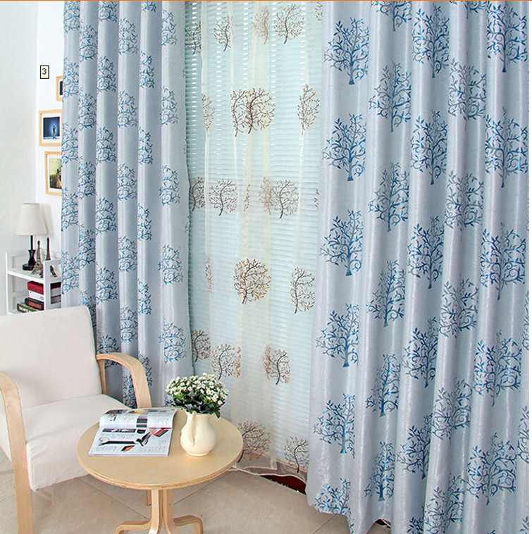 20 Best Curtain Ideas For Living Room 2017: 2017 Blackout Jacquard Embroidery Curtains Window Curtains