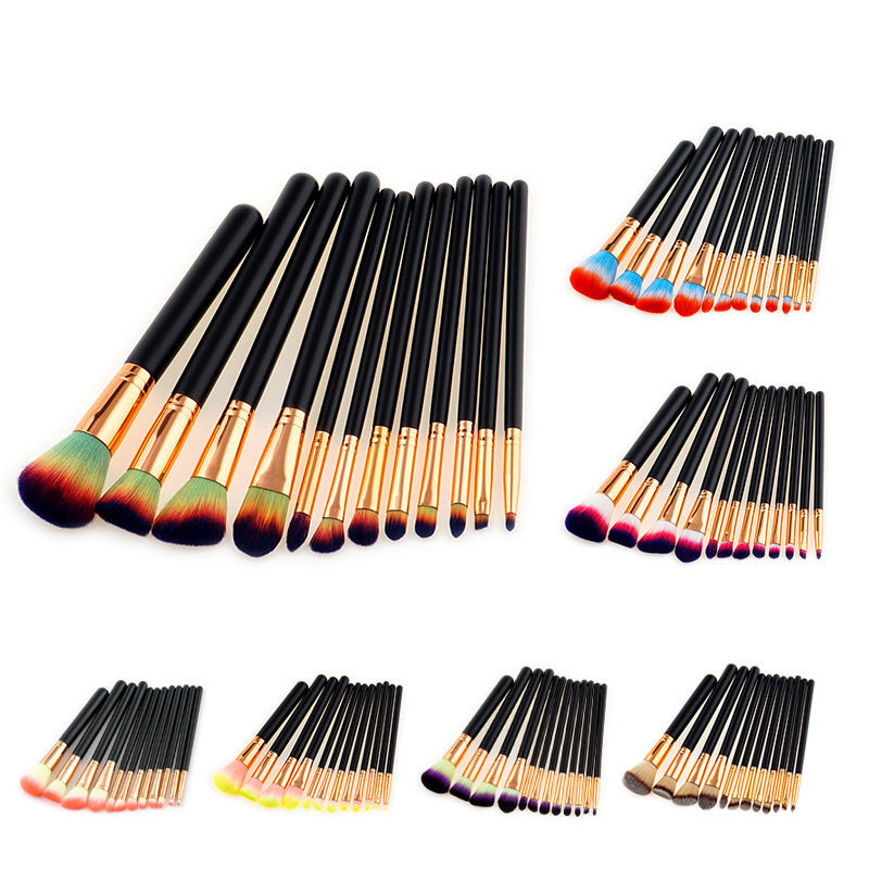 KESMALL New 12Pcs/Lot Fashion Professional Face Makeup Brush Set Multifunction Brushes High Quality Eye Make Up Tool Kits XN236M outlife new style professional military tactical multifunction shovel outdoor camping survival folding spade tool equipment