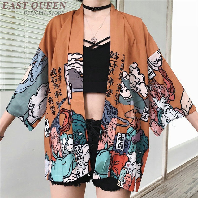 Womens tops and blouses 2020 harajuku kawaii shirt Japanese streetwear outfit kimono cardigan female yukata blouse women AZ004 2