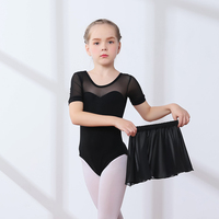 8036c3bdbb3d Black Short Sleeve Ballet Leotard Gymnastics Leotards Women Ballet Dance  Costume Ballerina Kids Bodysuit Unitard Dancewear. Nero Balletto manica  corta ...
