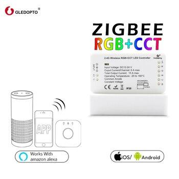 G светодиодный OPTO ZIGBEE звено, светлый zll RGB + CCT светодиодный контроллер rgbcct DC12-24V Совместимость aleax plus le и много шлюзов