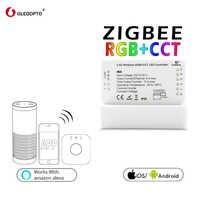 GLEDOPTO ZIGBEE リンクライト zll RGB + CCT led ストリップコントローラ rgbcct dc12-24v 互換性 aleax プラスルと多くゲートウェイ