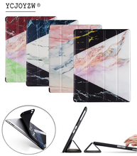 Marble pattern New Case for Apple iPad 4 3 2. PU leather cover+TPU soft Case-Smart sleep wake up case for ipad 2 3 4-YCJOYZW