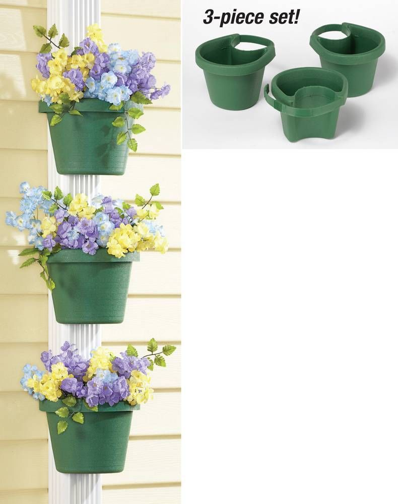Unique Outdoor Flower Pots Us 17 71 11 Off 3 Pc Lot Unique Gutter Downspout Garden Flower Pot Plant Planter Container Set Plant Pots For Placing Around Drainpipes In Flower