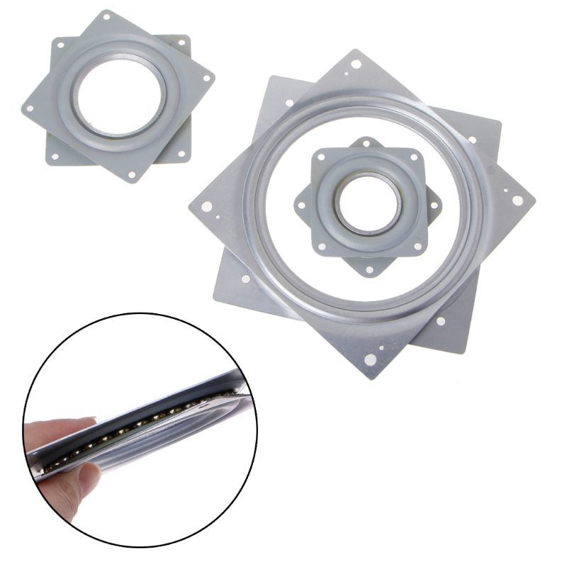 New Square Lazy Susan 360Degree Rotating Rolling Bearing Turntable 300 Lbs Bearings Plate