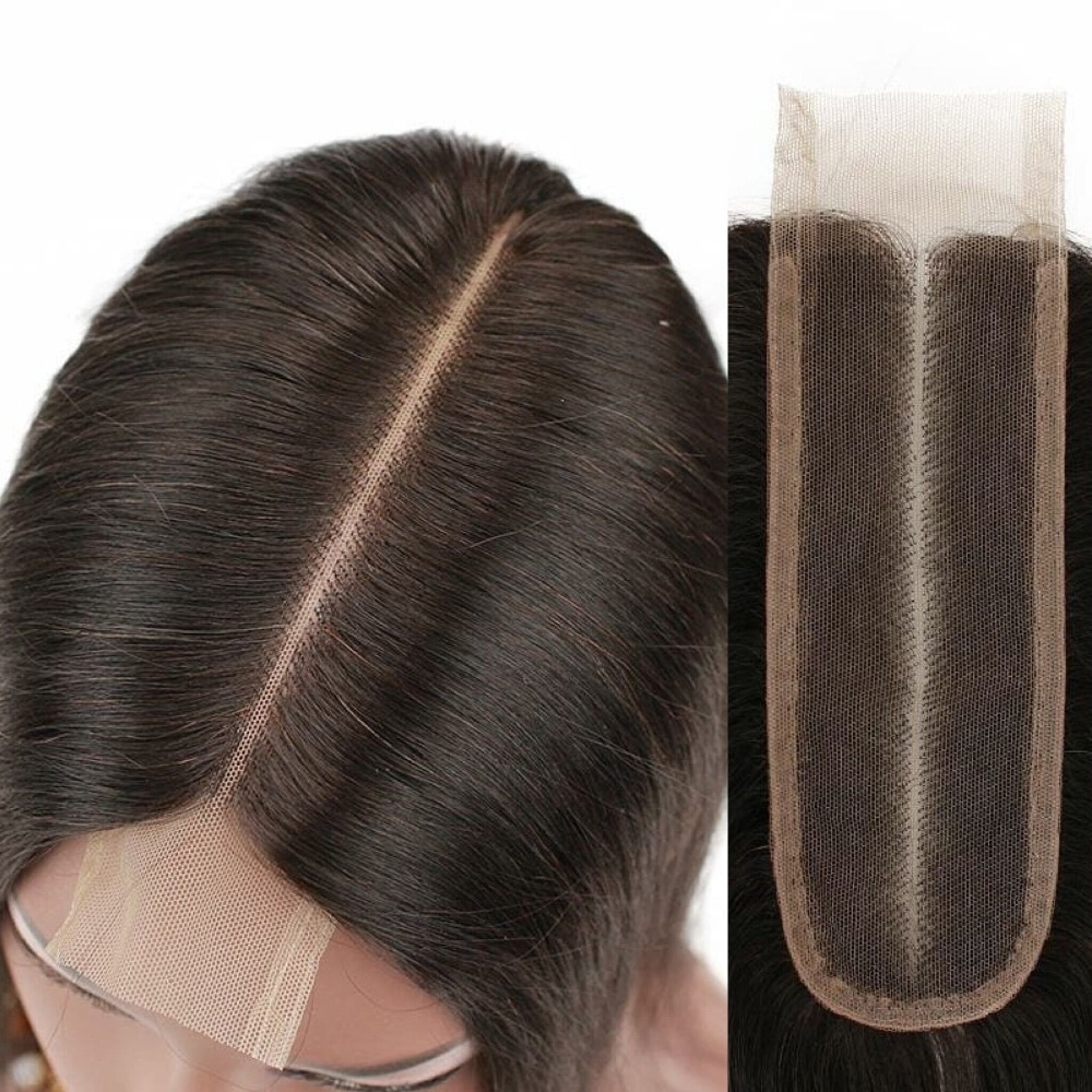 Sunnymay 2x6 Deep Middle Part Lace Closure Malaysian Virgin Hair Pieces Top Lace Closure Bleacked Knots