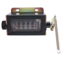 Высокое качество 5 цифр сбрасываемый механический Тяговый ход механический ручной Талли ход щелчок подсчет крепление счетчик Руководство