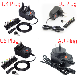 12W Universal Charger AC/DC Adapter Switching Power Supply with 6 Selectable Adapter Plugs, Suitable for 3 V to 12 V Device