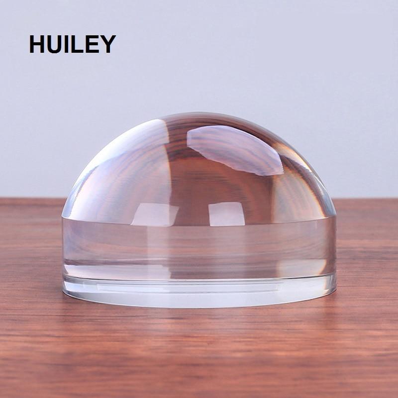 Peso de papel de Mesa de Leitura Lupa Lupa Lente Lupa Mesa De Vidro Paperweight Acrílico 50mm 60mm 80 milímetros 100 milímetros cristal