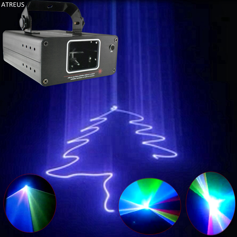 ATREUS SGLL New Year Christmas Projector DMX Laser Lamp light stage lighting effects music for home party disco club bar dj show home entertainment new mini stage lamp beautiful lighting projector 3w led projection lamp low price high quality ktv party lamp