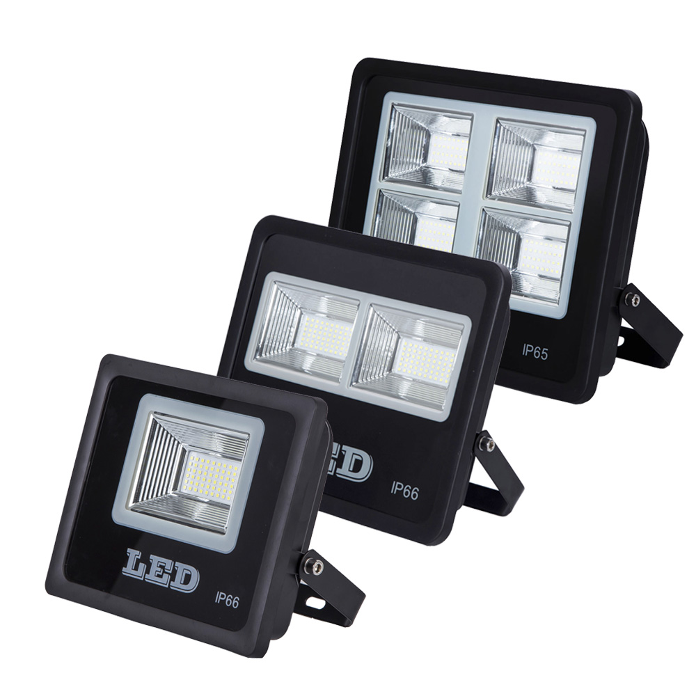LED SMD led floodlight new arrived 50W 100W 150W White Warm White With High Power outdoor Flood light Spotlight black housing high power 100w white 6500k warm white 3500k smd led light input 12 24v dc led driver