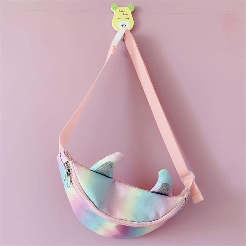 New Spring Summer Harajuku Cute Pocket Chest Bag Horn Chest Bag Bling Bling Glitter Street Messenger Bag Small Travel Bags