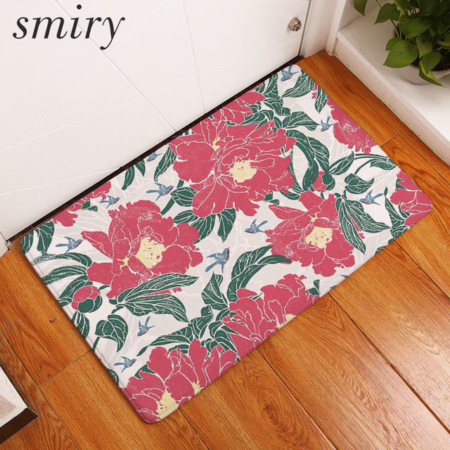 Smiry welcome home hallway entrance door mats vintage flower Chinese ...
