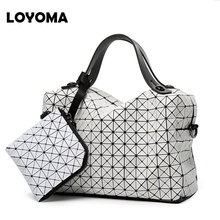 woman handbags 2017 Famous Style Top-handle bags briefcase high quality leather design hand bag issey big Shoulder Bags miyake