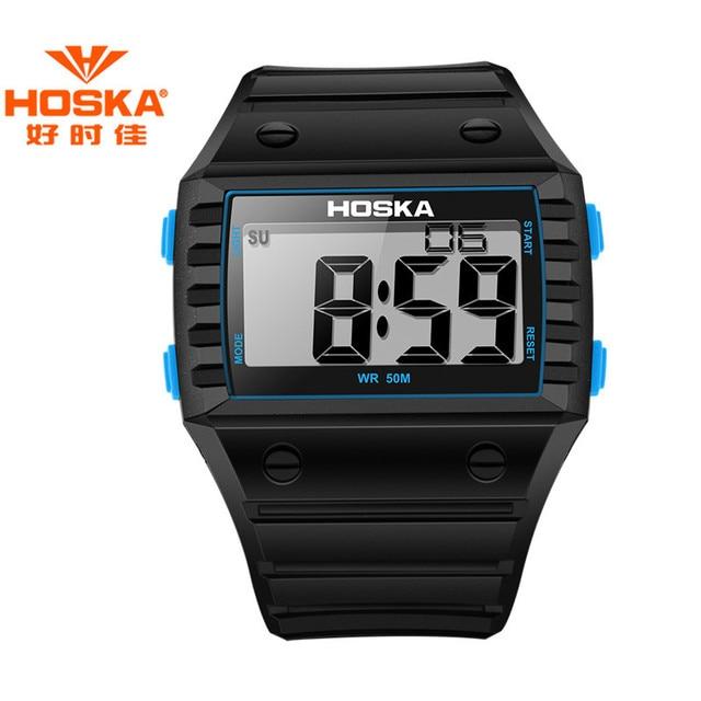 HOSKA New Arrival Digital Watch Men Casual Sport Waterproof 50M Watches Children Digital Watch Fashion Outdoor Wristwatches 2017