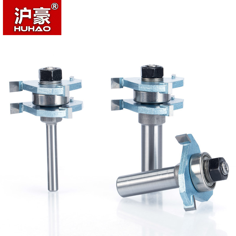 HUHAO 1pc 1/4 1/2 Shank Router Bits For Wood Corner Splicing Combination CNC Cutter Dismountable Woodworking Tool цены