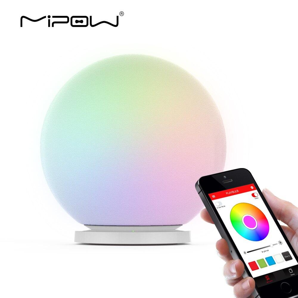 MIPOW PLAYBULB Sfera Smart Cambiamento Di Colore Impermeabile Dimmable HA CONDOTTO LA Lampada Da Terra Di Luce In Vetro Di Orb Luci Notturne Toccare Per Cambiare Colore