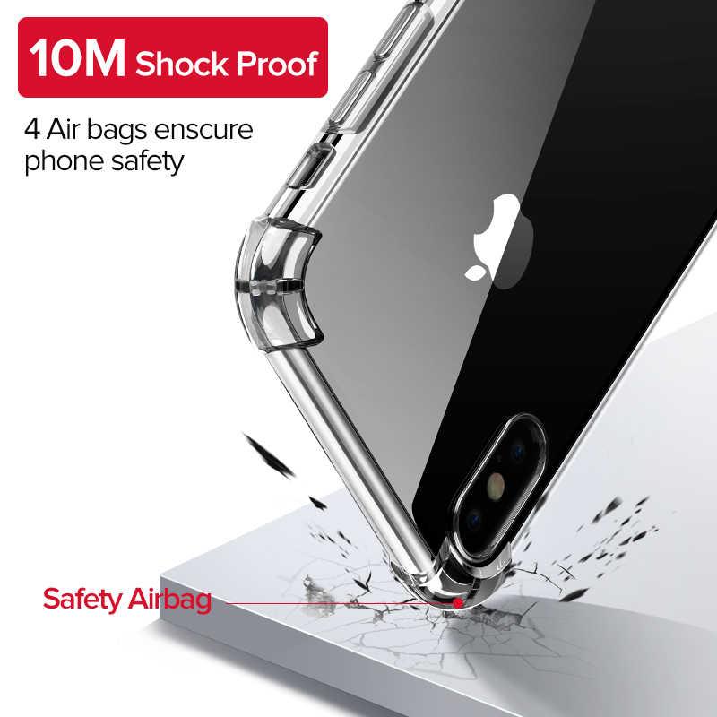 Ugreen чехол для iPhone 7 8 Plus, ударопрочный чехол для iPhone X Xs Max, чехол для телефона HD, прозрачный защитный чехол для iPhone 7