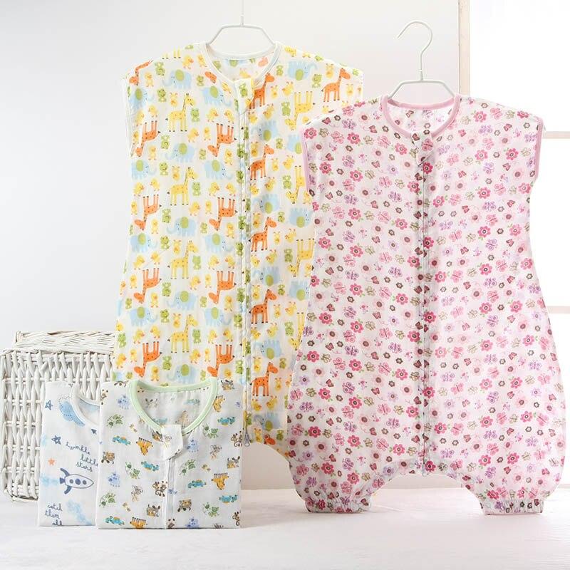 0-5Year Śpiwór dla niemowląt Bez rękawów Bielizna nocna Muślin - Pościel - Zdjęcie 3