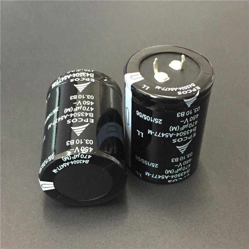 2pcs 470uF 450V EPCOS B43504 Series 35x50mm 450V470uF Low ESR Long Life PSU Aluminum Electrolytic Capacitor