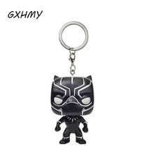 Marvel Super Hero Black Panther Vinyl Action Figures Children Toy Keychain With Retail Box